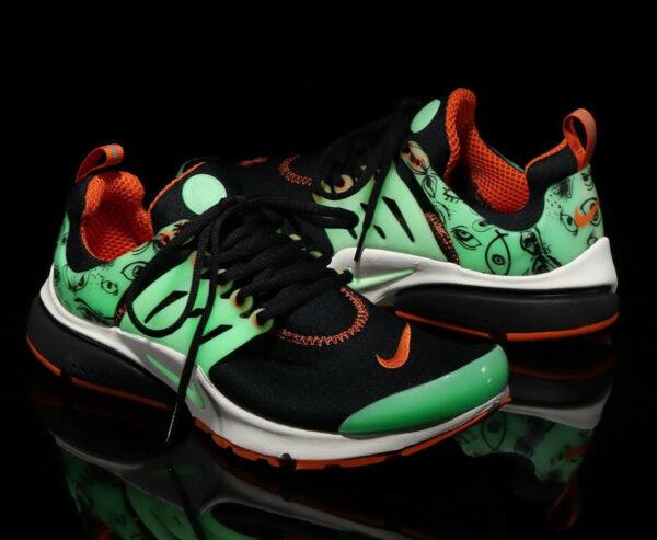 Nike Air Presto noire et orange glow in the dark (3)
