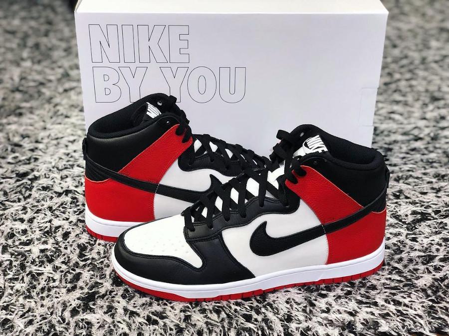 Nike Dunk High By You Black Toe @aribeatle