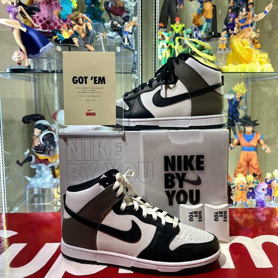 Nike Dunk High By You Dark Mocha @hiroomi_or