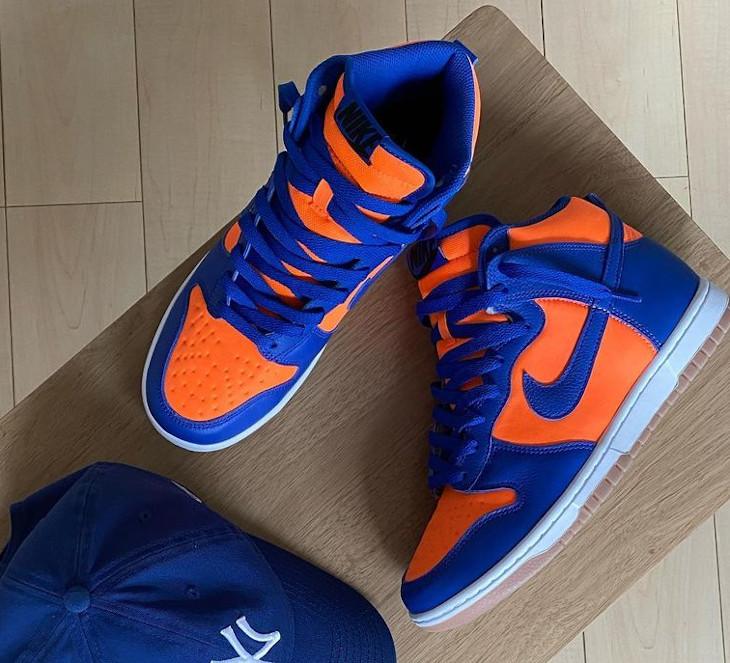 Nike Dunk High By You Knicks @mrkomura9s