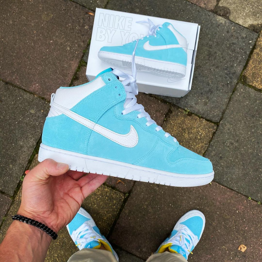 Nike Dunk High By You Tiffany rock.dont.stock