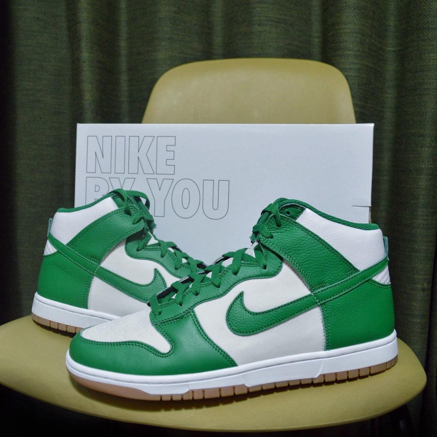 Nike Dunk High By You White Green @xl_mrblue