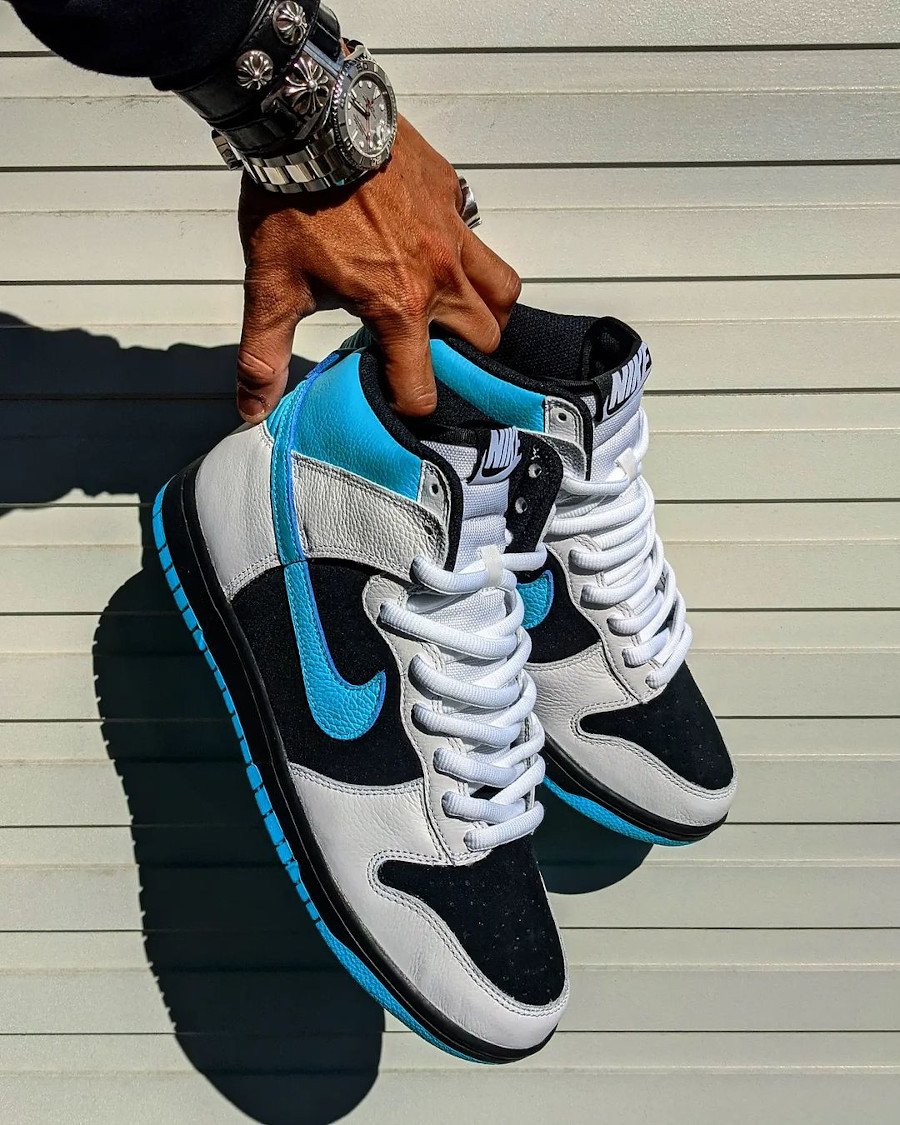 Nike Dunk High by You Black Turquoise @kenji_graphics