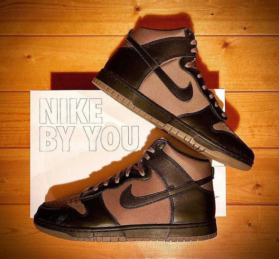 Nike Dunk High by You Chocolate @hachingo510
