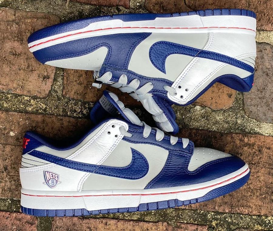 Nike Dunk Low 2021 blanche grise et bleu foncé (1-1)