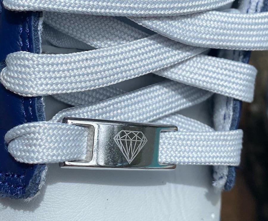 Nike Dunk Low 2021 blanche grise et bleu foncé (1-2)