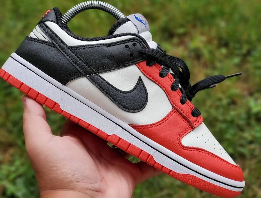 Nike Dunk Low 2021 blanche rouge et noire (4)