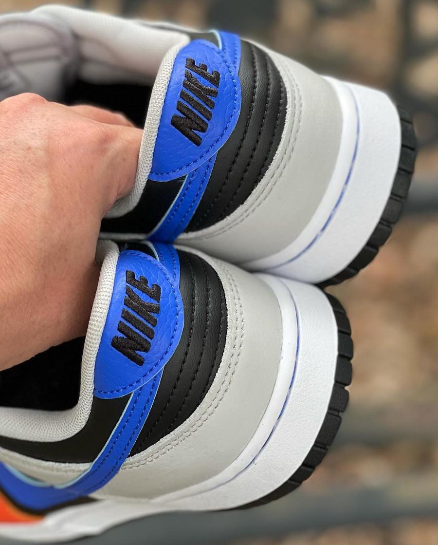 Nike Dunk Low 2021 noire grise bleue et orange (1)