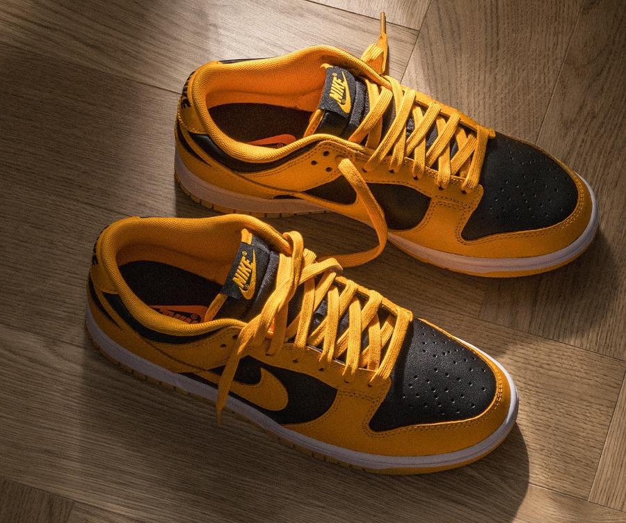 Nike Dunk Low 21 jaune et noire (3)