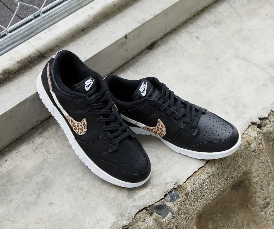 Nike Dunk Low noire imprimé léopard et serpent (3)