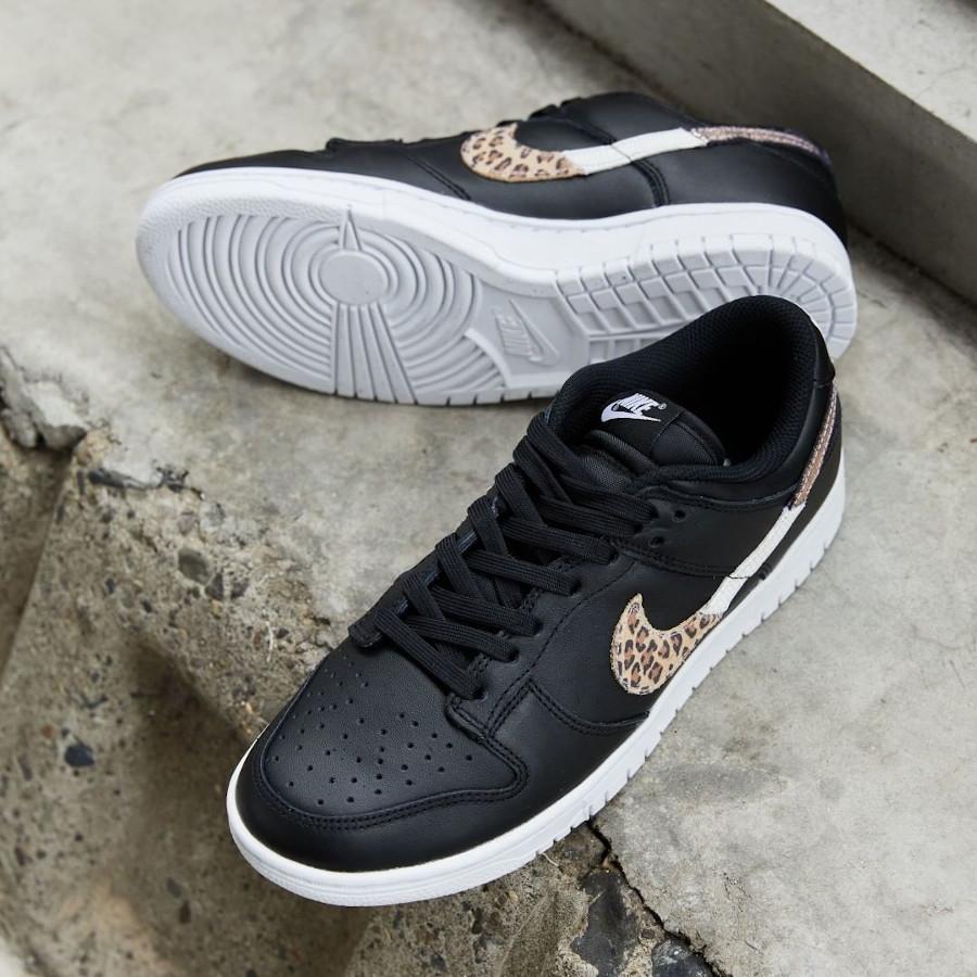 Nike Dunk Low noire imprimé léopard et serpent (4)