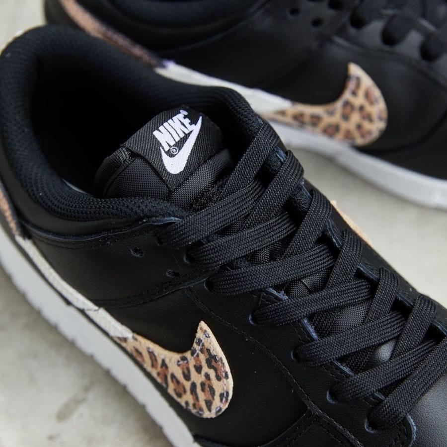 Nike Dunk Low noire imprimé léopard et serpent (5)
