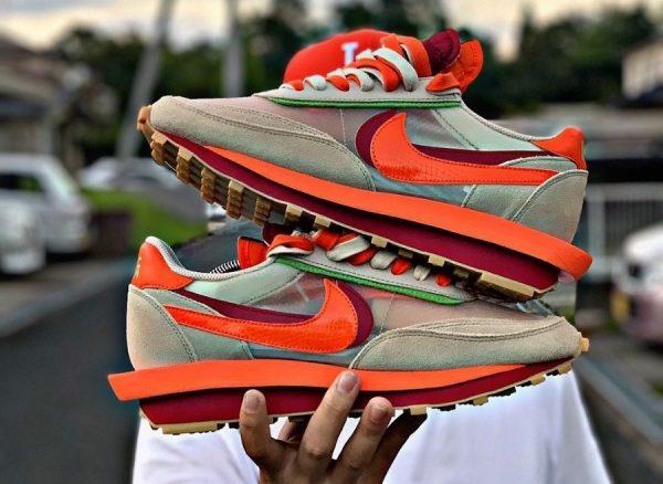 Nike LDWaffle x Sacai x Clot Net Orange Blaze DH1347-100