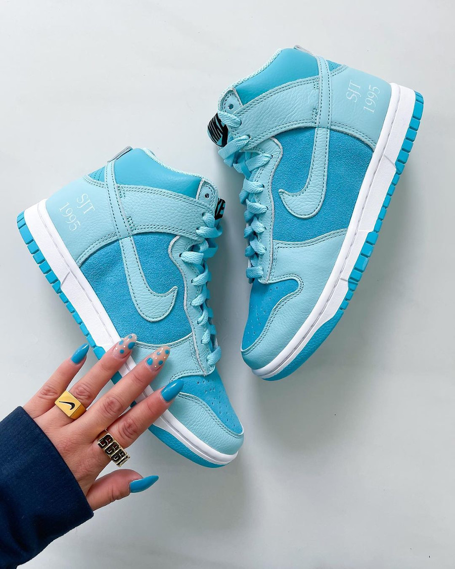 Nike Wmns Dunk High By You Ice Blue @sallyssneakers