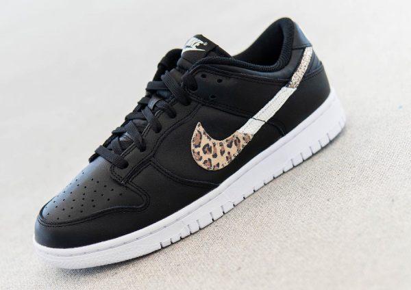 Nike Wmns Dunk Low SE Animal Instinct Swoosh Black DD7099-001