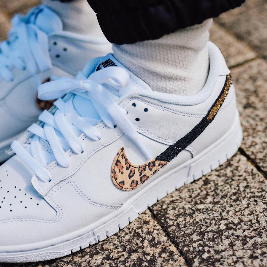Nike Wmns Dunk Low SE Animal Instinct Swoosh White