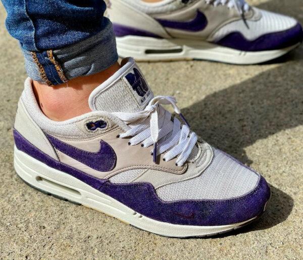Patta x Nike Air Max 1 Purple Denim @cuarentaydosymedio