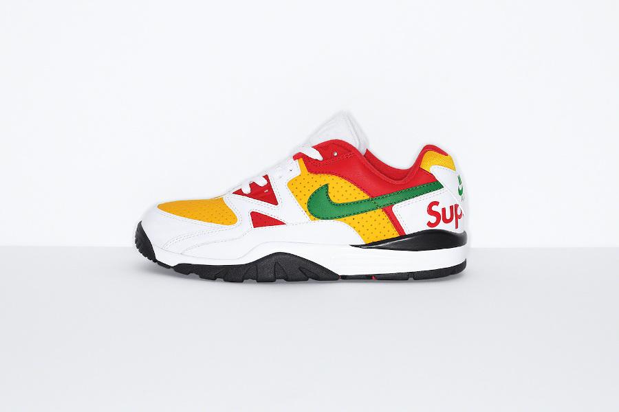 Sup x Nike Cross Trainer Low blanche rouge et verte (3)