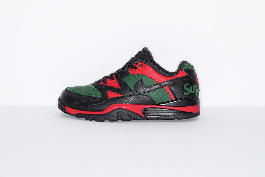 Sup x Nike Cross Trainer Low noire rouge et verte (2)