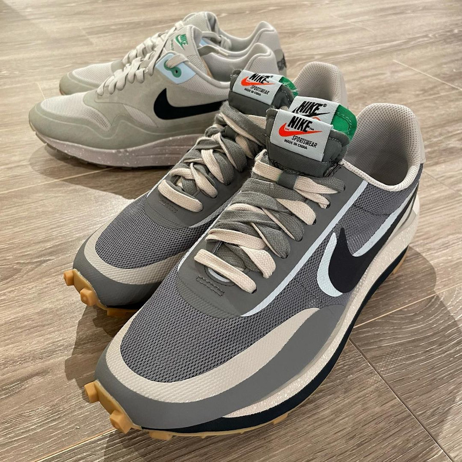 chaussure Nike Waffle Racer x LDV grise (1)