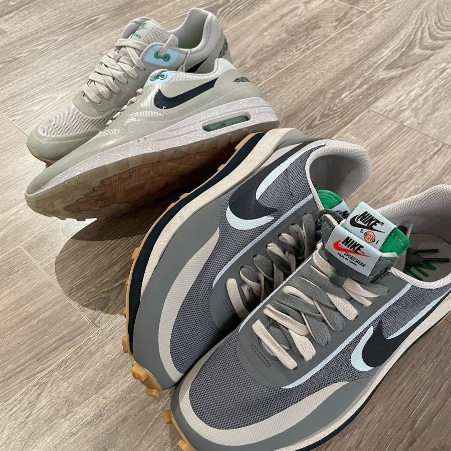 chaussure Nike Waffle Racer x LDV grise (4)
