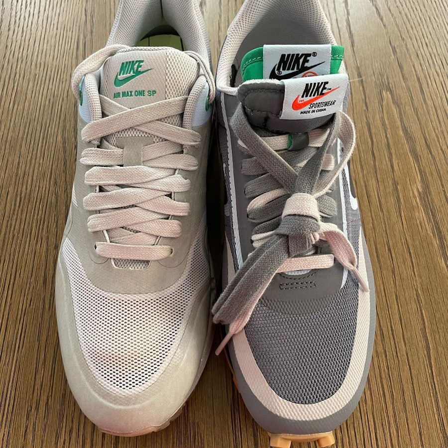 chaussure Nike Waffle Racer x LDV grise (6)